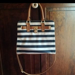 Beautiful blue and white shoulder bag
